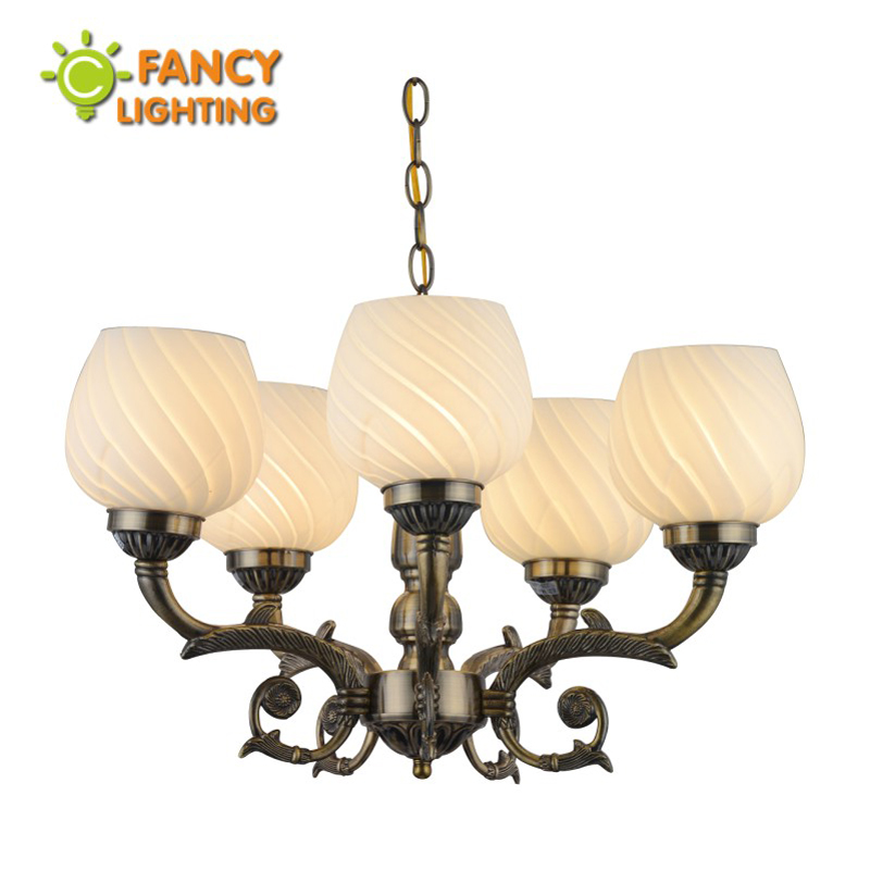 Vintage chandelier led 3/5 Heads Iron chain E27 frosted glass chandelier ceiling for living room/bedroom/kitchen/home decoration modern chandelier e27 2028 3 5 heads frosted glass led chandelier for living room bedroom kitchen dining room ceiling chandelier
