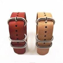 2015 high quality hot spot NATO banding Zulu Artificial PU leather strap bracelet watch band clock watchbands, watch strap 22mm