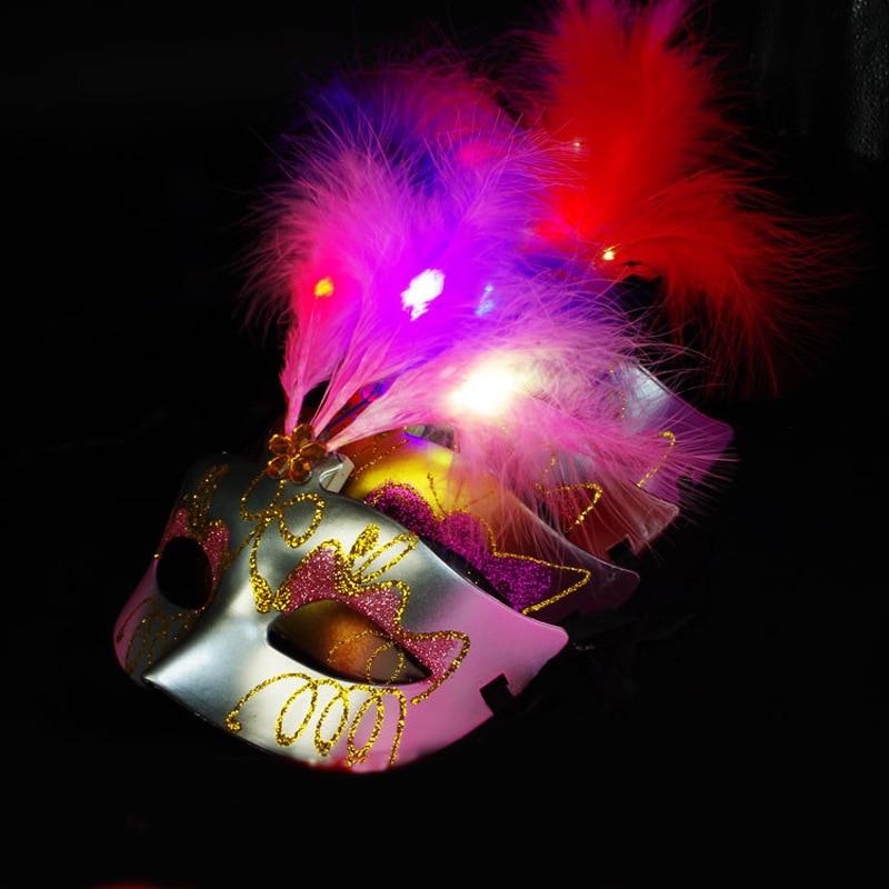 Zelfbewust Groothandel Licht Pluizige Gouden Masker Prinses Benen Masker Mooie Veer Masker Maskerade Masker
