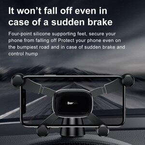 Image 4 - Baseus Auto Telefoon Houder Voor Iphone Samsung Gravity Mount Houder Stand Dashboard Auto Houder Voor Huawei Xiaomi Mobiele Telefoon Houder