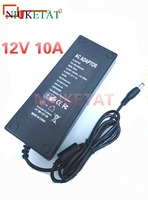 12V 10A DC Power 12V10A AC100V 240V LED Strip Power Adapter LED Drive Power Supply For