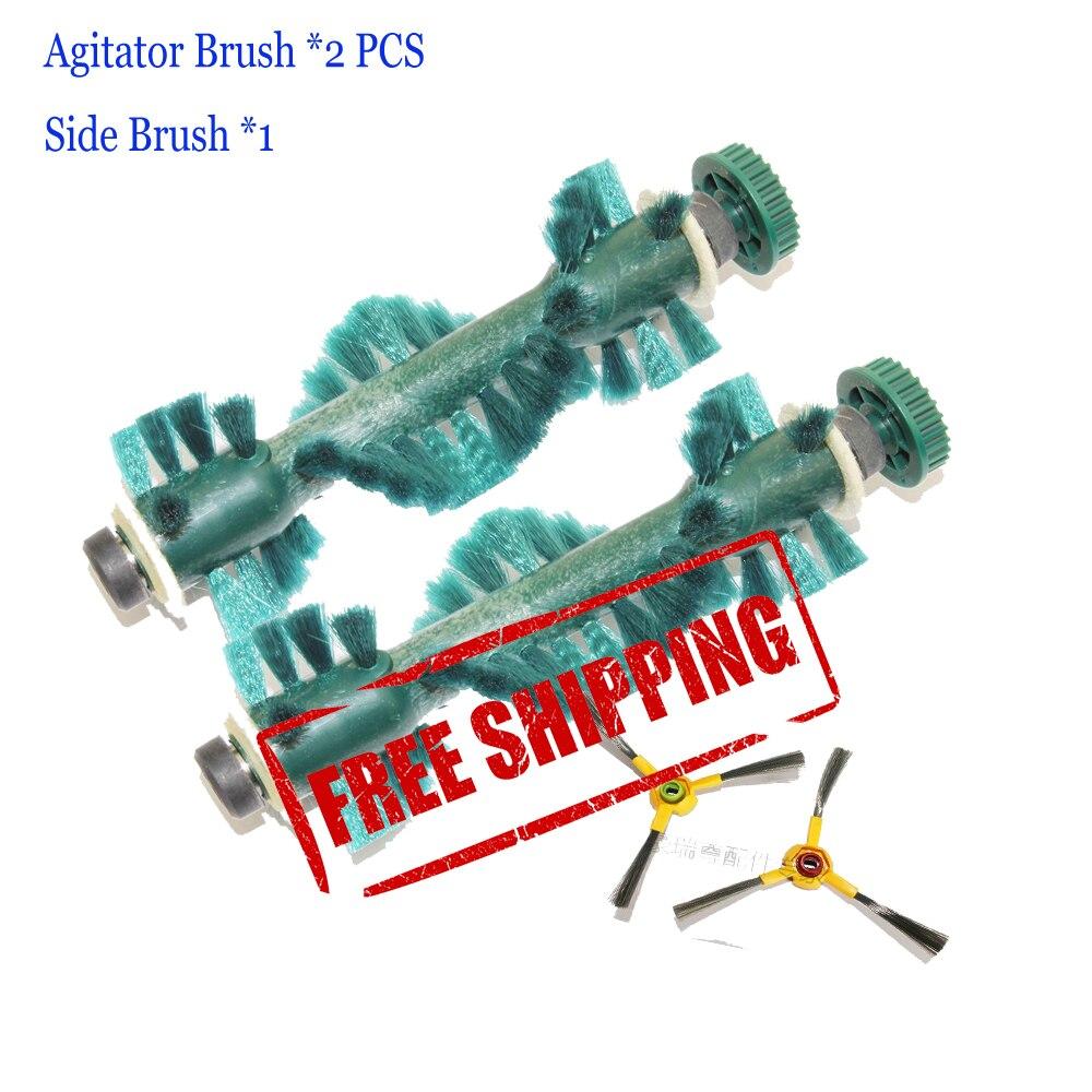 Free Shipping 2 pcs /Lot main brush Agitator Brush Side brush *1 for Ecovacs Deebot D73 D76 Vacuum cleaners комплект для уборки ecovacs d76