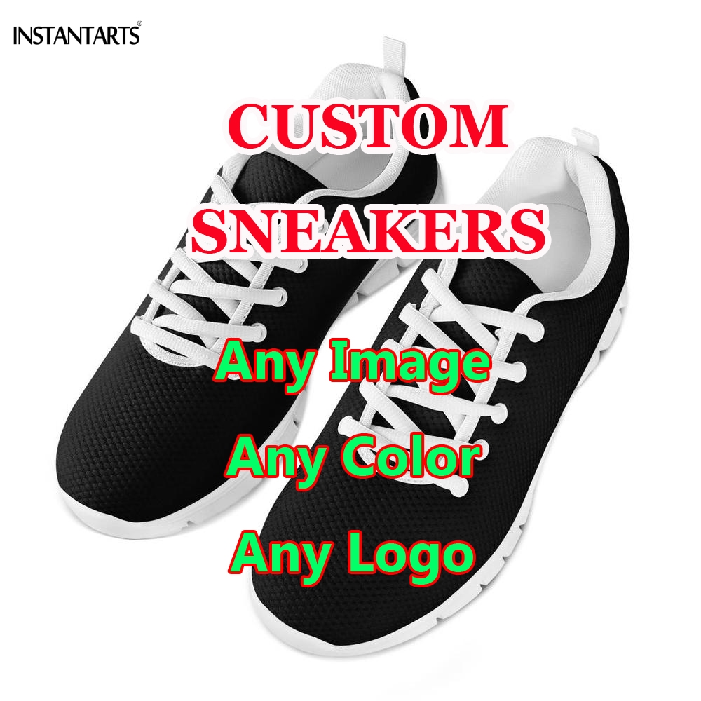 INSTANTARTS 2019 New Custom Your Own Logo/Image/Photo Printing Women Men Running Shoes Make Your Design Sports Shoes SneakersINSTANTARTS 2019 New Custom Your Own Logo/Image/Photo Printing Women Men Running Shoes Make Your Design Sports Shoes Sneakers