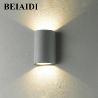 BEIAIDI Outdoor Waterproof COB LED Wall Lamps 6W 10W Surface Mounted Graden Corridor Staircase Balcony Sconce Light AC110V/220V
