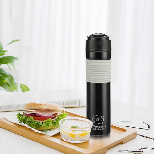 Portable French Pressed Coffee Bottle