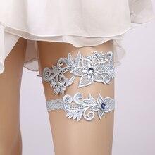 Свадебные Подвязки, стразы, кружева, цветы, синие сексуальные подвязки, набор из 2 предметов для женщин/невесты, кольцо на бедро, подвязки для ног