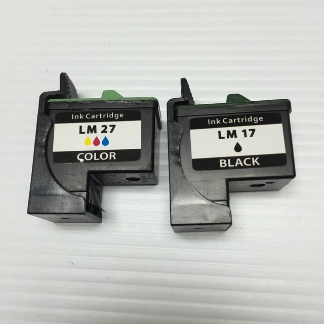 YOTAT Remanufactured LM17 LM27 Ink Cartridge for lecmark 17 27 for lexmark Z13 Z23 Z24 Z25 Z33 Z34 Z35 Z515 Z601 Z603 Z605 Z615