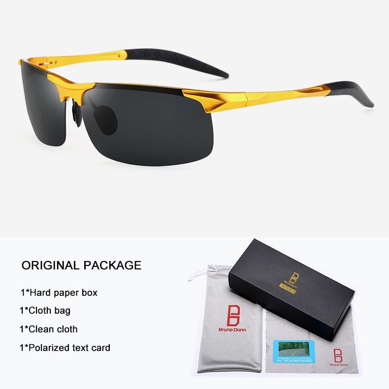 Bruno Dunn Driving polarized Men sunglasses 2020 sports High Quality UV400 Aluminum sun glasses for male oculos de sol masculino 8