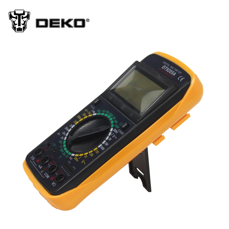 DEKOPRO Multimeter   AC DC LCD Display Professional Electric Handheld  Digital Multimeter Volt Tester Test Current мультиметр multimeter 5818 ac dc w