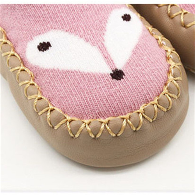 Cotton Baby Socks Unisex Cartoon Baby Socks Newborn Anti Slip Baby Socks With Rubber Soles