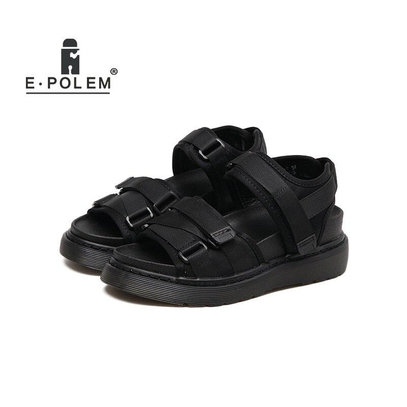 0d449eedd6 2018 Summer New Women Sandals platform heel Leather hook loop Soft  comfortable flat shoes ladies casual