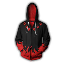 Naruto Sharingan Red Uchiha Sasuke 3D Print Hoodie