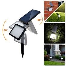 garden solar lamp waterproof 48 led solar spotlight adjustable wall landscape light security lighting dark sensing auto onoff