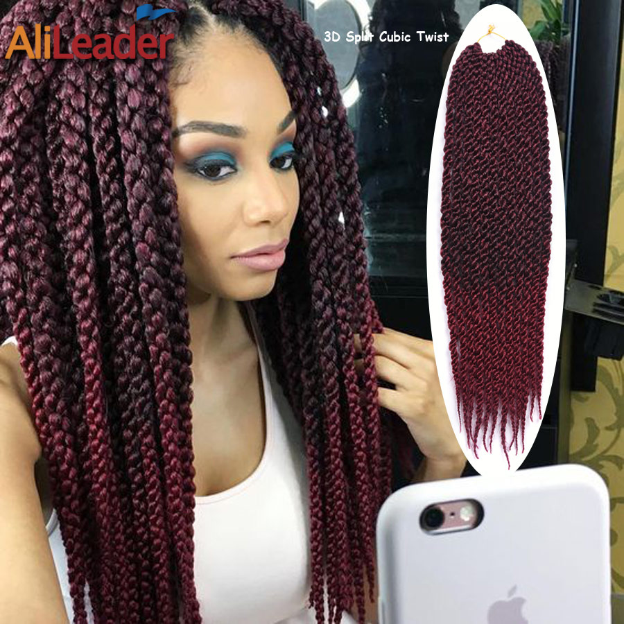 Crochet Hair Buy : Aliexpress.com : Buy New Stylish 3D Split Cubic Twist Crochet Braids ...