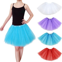 Kids Petticoat Clothes Summer Baby Girls Teen Chiffon Fluffy Pettiskirts Tutu Princess Party Skirts Ballet Dance Wear 1PC недорого