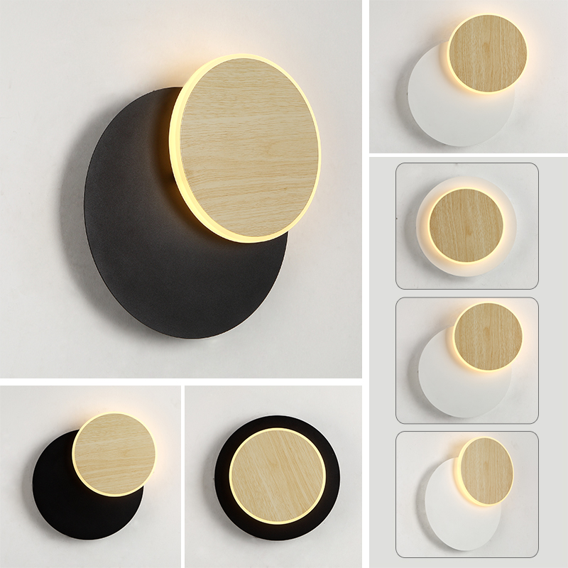 Modern Science Fiction Led Rotating Wall Lamp Living Room Bedroom Corridor Staircase Decorative Lamps Wall Light Luminaire Avize in LED Indoor Wall Lamps from Lights Lighting