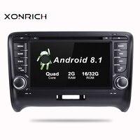 Android 8,1 2G Оперативная память автомобильный dvd плеер с двумя цифровыми входами для AUDI TT MK2 2012 2014 GPS Радио стерео wifi навигации Мультимедиа сенсор