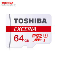 TOSHIBA 64GB Max UP 90MB S Micro SD Card SDXC U3 Class10 TF Memory Card With