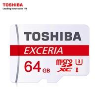 TOSHIBA 64GB Max UP 90MB S Micro SD Card SDXC U3 Class10 TF Memory Card With
