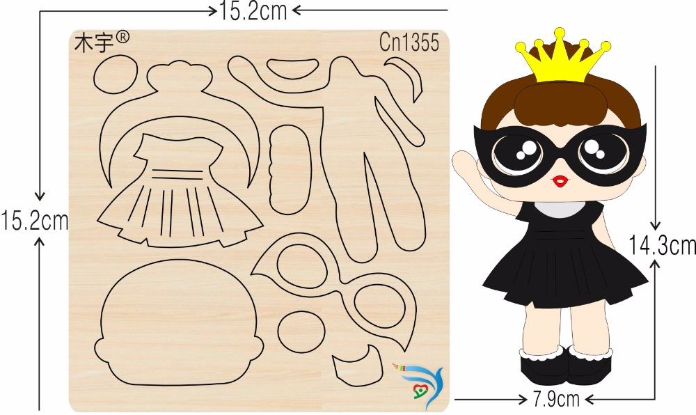 Girl cn1355 muyu cutting die new wooden mould cutting dies for scrapbooking Thickness 15 8mm