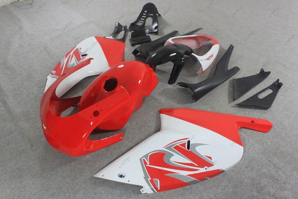 Fairings for Aprilia RS125 04 05 Full Body Kits RS125 02 03 2000 - 2005 White Red Fairing for Aprilia RS125 02 03