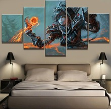 Modular 5 Piece Canvas Art Warcraft Game Poster Modern Decorative Paintings on Wall for Home Decorations Decor