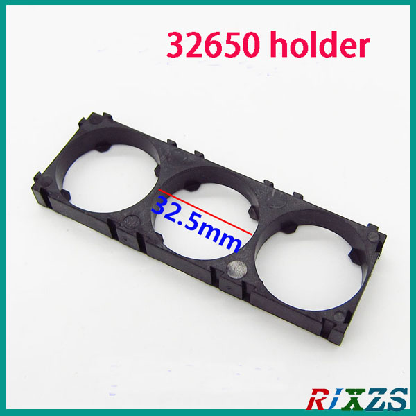 2pcs/a Lot 32650 3s Batteryholder Bracket Cylindrical Battery Holder 32650 Cell Holder Safety Anti Vibration Plastic Holder