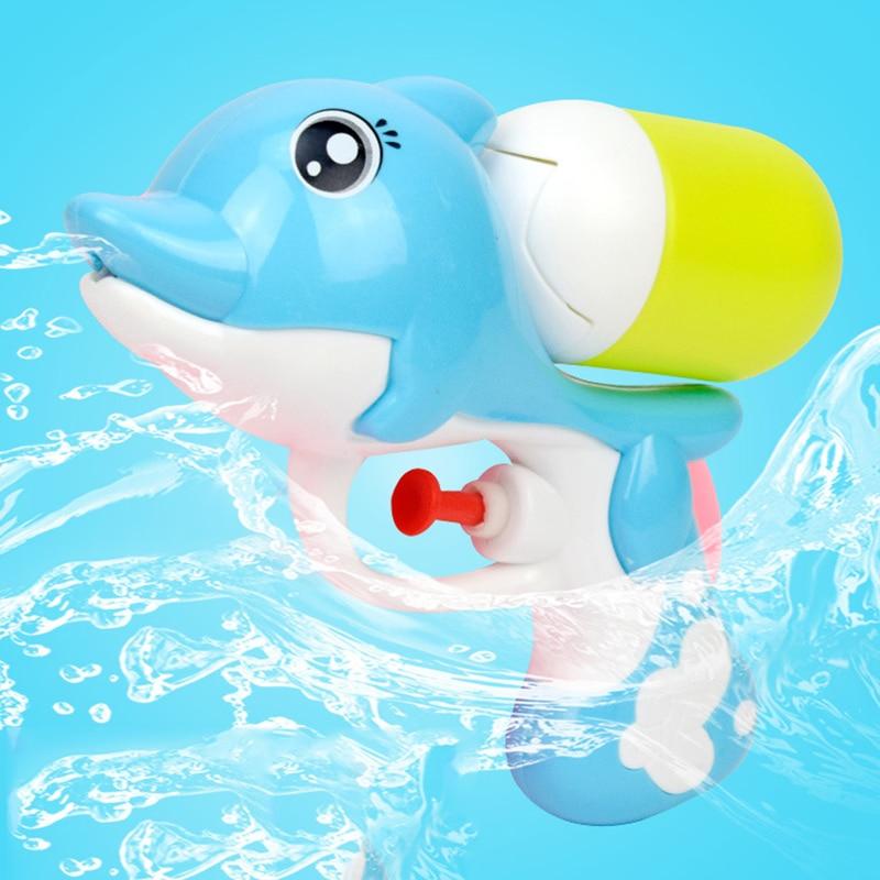 Children Cartoon Mini Dolphin Spray Water Toy For Beach Soakers Toy Long Range Blasters Child Squirt Toy Spray Pistol Water Gun