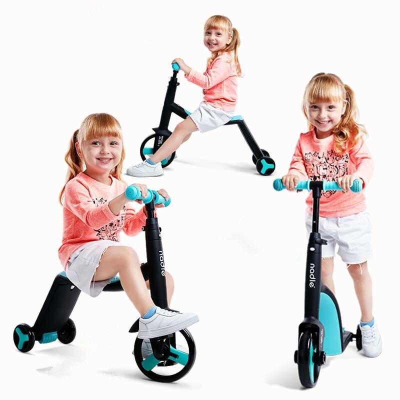 Los niños Scooter Triciclo de bebé 3 en 1 niños bicicleta de equilibrio paseo en juguetes bebé patineta al aire libre triciclo yoya cochecito