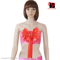 Latex Crop Top Bra With Bow Rubber Bandeau Plus Size Xxxl Ny 003
