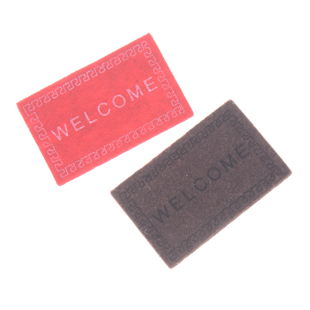 Dollhouse Miniature Welcome floor mat Carpet Rug*dollhouse accessories HI
