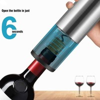 1Set USB Rechargeable Electric Bottle Opener Stainless Steel Wine Bottle Opener Accessories For Christmas Home party