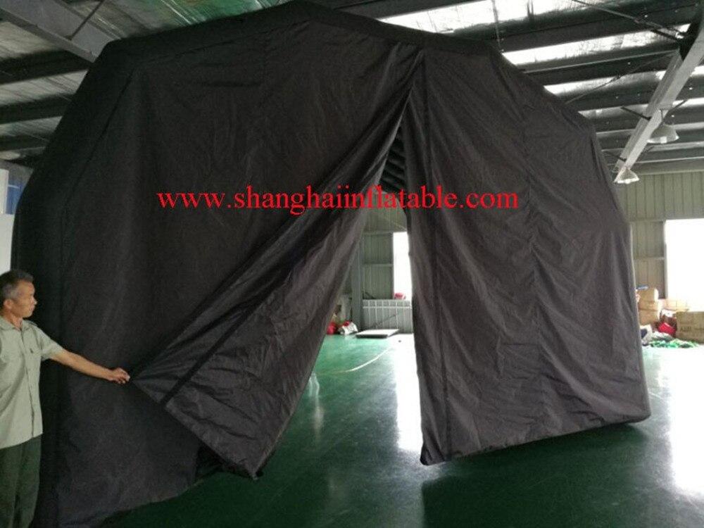 Черный Оксфорд надувной тент для продажи с воздуходувкой, ourdoot надувной тент - 2