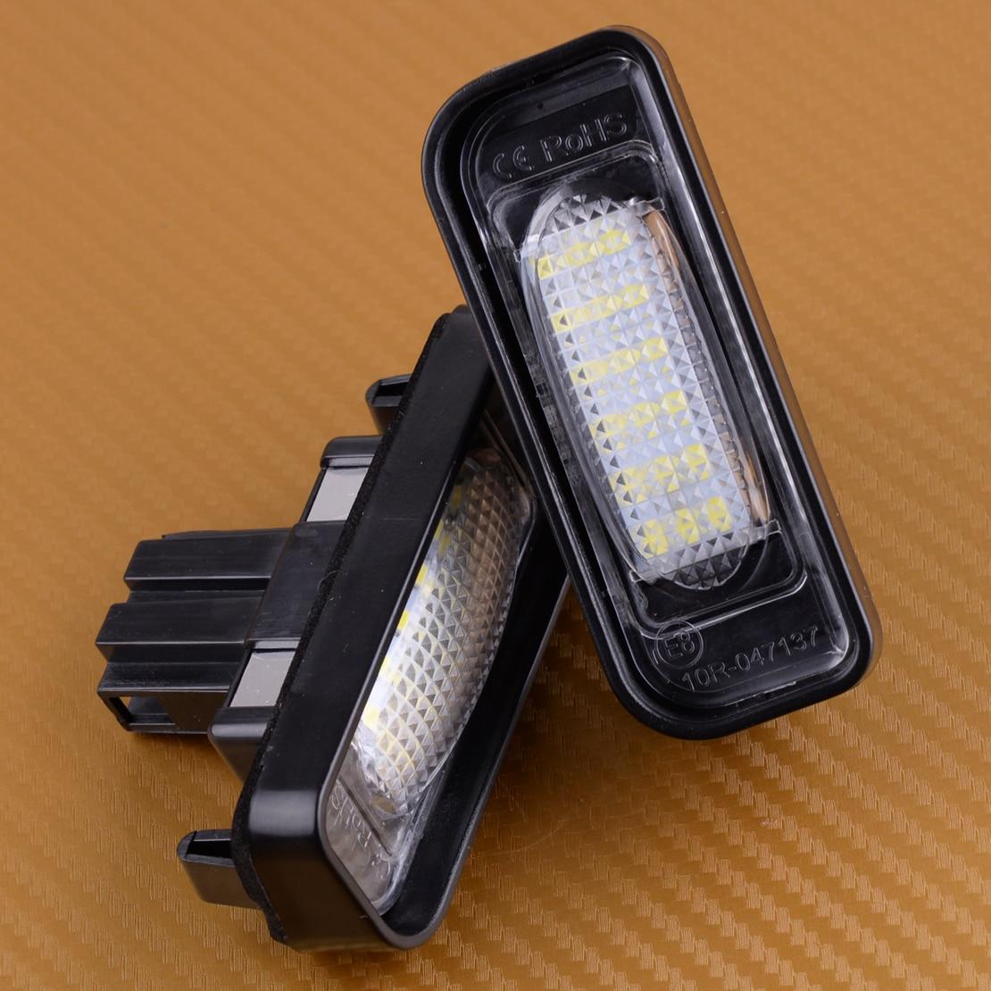 DWCX Voiture 2 pcs Sans Erreur LED Plaque D'immatriculation de La Lampe fit pour Mercedes Benz W220 S320 S350 S500 S55 S600 S65 1999 2000 2001-2005