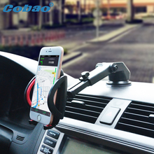 Cobao Universal Car Phone Holder Stand Car Dashboard Windshield Phone Stand For xiaomi note Samsung galaxy S3 4 5 6 Note 3 4 5(China)