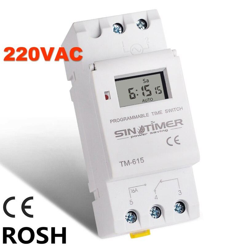 SINOTIMER Marke Elektronische Weekly 7 Tage Programmierbare Digitale TIMER-ZEITSCHALTER Relais Timer Control AC 220 V 16A Din-schiene