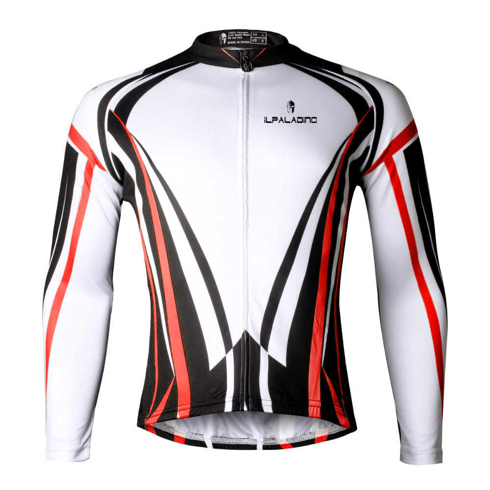 Free Shipping Men Long Sleeve Cycling Clothes Ciclismo Red Bicycle Clothes Polyester Breathable Pro Riding Clothing
