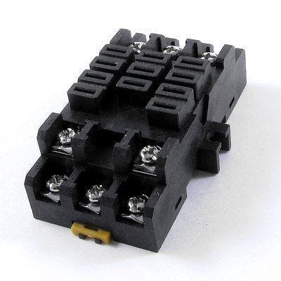 AC 300V 40A JQX-38F Relay 11 Terminals 34mm Din Rail Socket Holder 38F-11A 10 pcs 8 terminals relay socket holder for mk2p 1 jqx 10f