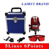 LAIRUI 5 Lines 6 Points Laser Level 360 Rotary Cross Laser Line Leveling Can Be Used