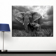 AAVV Wall Art Elephant Print on Canvas Animal Wall Pictures for Living Room Home Decor Pictures Posters(China)