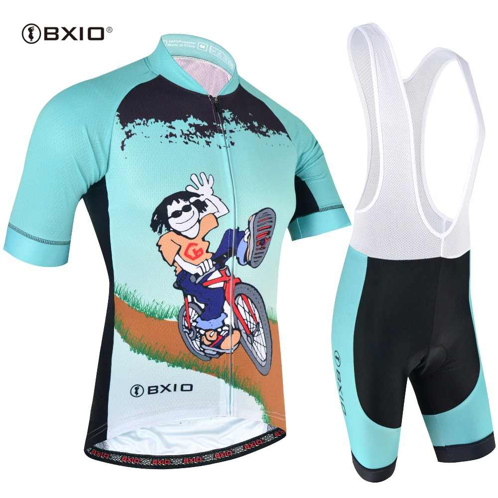 BXIO Cycling Jersey Sets Mtb Mountain Funny Racing Bike Clothes Ropa Ciclismo 2019 Maillot/Wear Summer Pro Cycling Clothing 168