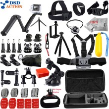 Accessories for Gopro kit mount / go pro hero 5 4 3 2 accessories set for M10 SJCAM Eken h8r case xiaomi yi tripod 13G