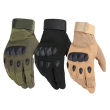 1 Pair Tactical Gloves Paintball Airsoft Shooting Combat Anti-Skid Bicycle Hard Knuckle Full Finger Gloves Army Military цены