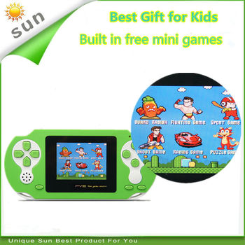 Free Shipping Best gift for kids handheld game console built in classical free games portable game player