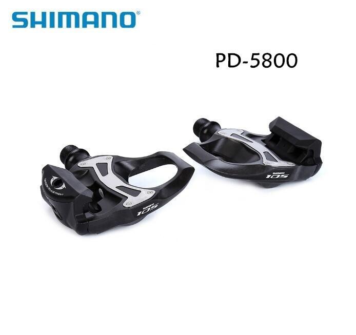 SHIMANO PD 5800 pédales SPD SL pédales en carbone crampons flottants 105 avec crampons vélo de route vélo 5800 pédale