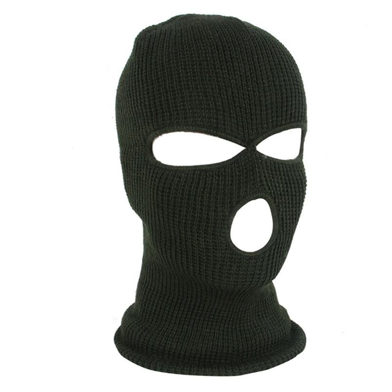 Full Face Mask Ski Mask Winter facemask Cap Balaclava Hood Army Tactical Mask 3 Hole cycling winter mask #4n26 (2)