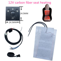 upgrade auto car heater heating seat fit for VW switch 21*21mm carbon fiber seat pad for 12v car electric heat
