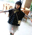 Wholesale(5pcs/lot)- 2016 spring autumn new all-match  DOT cloak shawls vest  for child girl