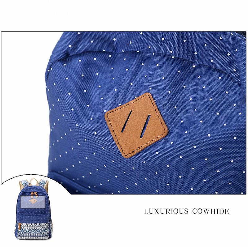 Canvas Printing Backpack Women School Bags for Teenage Girls Cute Bookbags Laptop Backpacks Female Bagpack 3 Piece one Set 10