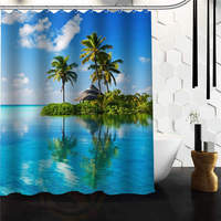 Outlet Seller Custom Wonderful Funny Sea Beach Shower Curtain 66 X 72 60 X 72 48